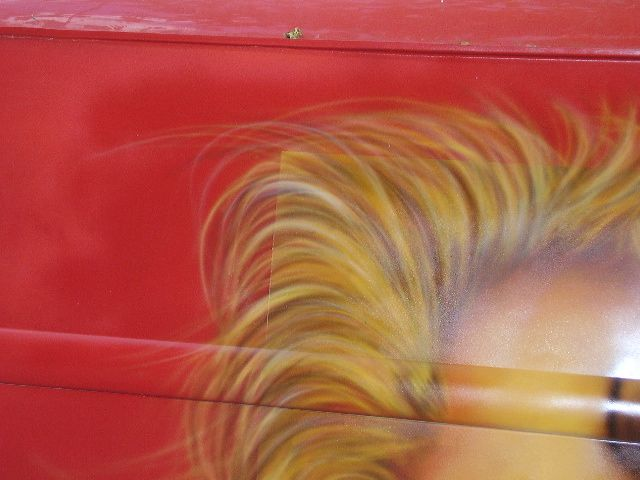 Trabajo de pintura (aerografia) MARILYN