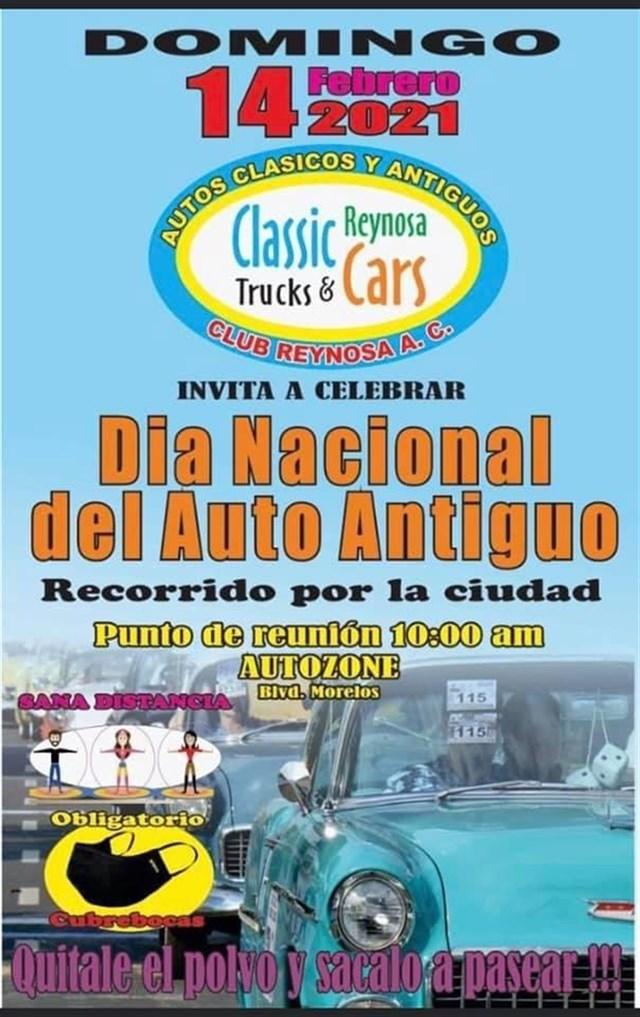Día Nacional del Auto Antiguo Reynosa 2021