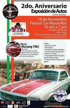 Más información de 2do. Aniversario Exposición de Autos