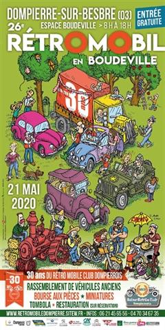 26e Édition Rétro Mobile Club Dompierrois