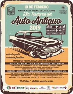 Día Nacional del Auto Antiguo 2019 Rodada a San Antonio de las Alazanas