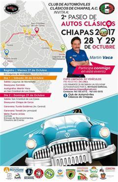 Más información de 2do Paseo de Autos Clásicos Chiapas 2017