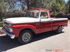 Día Nacional del Auto Antiguo Monterrey 2019 - Ford F100 twin I beam Custom Cab 1965