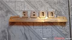 emblema lateral de cofre chevrolet 3800 del 48-54