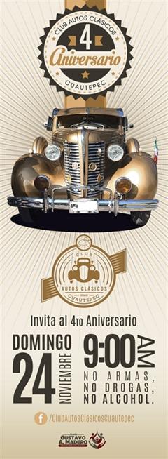 4 Aniversario Club Autos Clásicos Cuautepec