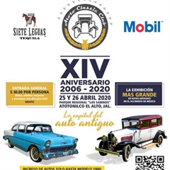 Más información de XIV Encuentro Nacional de Autos Antiguos Atotonilco
