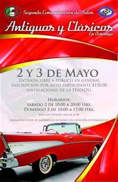 Segunda Concentración de Autos Antiguos y Clásicos en Durango