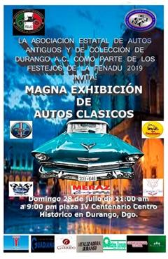 Magna Exhibición de Autos Clásicos Durango 2019