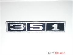 LOGOTIPO METÁLICO ORIGINAL PARA AUTOS FORD MUSTANG O GALAXIE 351