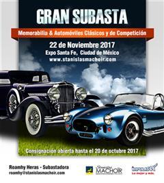 Más información de Gran Subasta Memorabilia & Automóviles Clásicos y de Competición