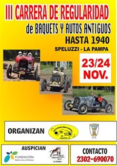 III Carrera de Regularidad de Baquets y Autos Antiguos Speluzzi - La Pampa