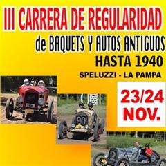Más información de III Carrera de Regularidad de Baquets y Autos Antiguos Speluzzi - La Pampa