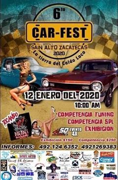 6o Car Fest, Sain Alto, Zacatecas