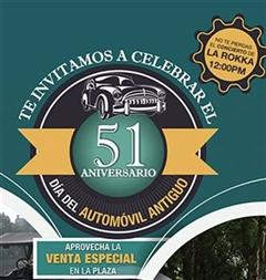 Más información de 51 Aniversario Día del Automóvil Antiguo