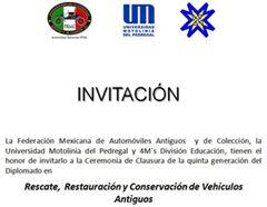Más información de Diplomado en historia, rescate, restauración  y conservación de vehículos antiguos