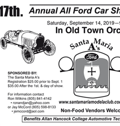 Más información de 17th Annual All Ford Car Show & Swap Meet