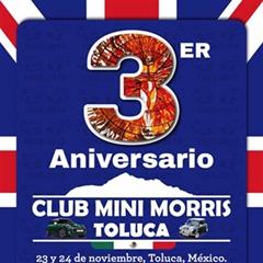 Más información de 3er Aniversario Club Mini Morris Toluca