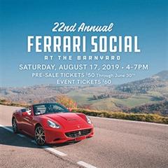 Más información de Ferrari Social at The Barnyard 2019