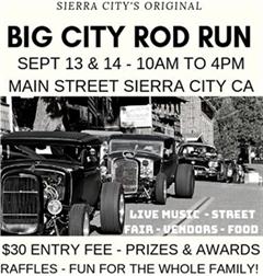 Más información de Sierra City's Original Big City Rod Run 2019