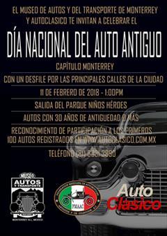 Día Nacional del Auto Antiguo Monterrey 2018