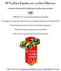 Más información de III Vuelta a España con Coches Clásicos