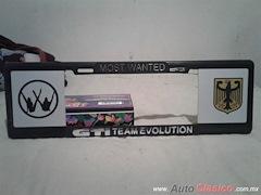 Porta Placa Estilo Europeo Most Wanted GTI Team Evolution 8MP