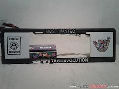 Porta Placa Estilo Europeo Most Wanted GTI Team Evolution 7MP