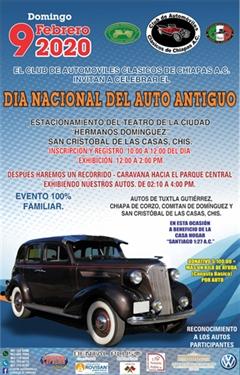 Día Nacional del Auto Antiguo Chiapas 2020