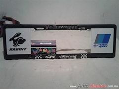 Porta Placa Estilo Europeo Volkswagen Racing 6MP