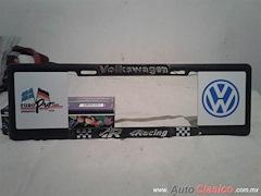 Porta Placa Estilo Europeo Volkswagen Racing 5MP