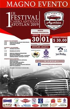 1er Festival Carro Antiguo Ayotlan 2019