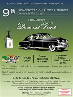 9a Concentración Autos Antiguos Pachuca de Soto, Hgo