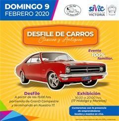 Desfile de Carros Clásicos y Antiguos Cd. Victoria Tamaulipas 2020
