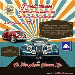 Más información de Rodada Turística y Convención Provincial de Autos Clásicos y Antiguos