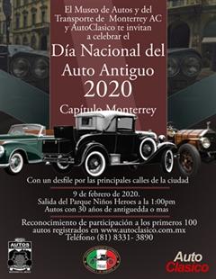 Día Nacional del Auto Antiguo Monterrey 2020