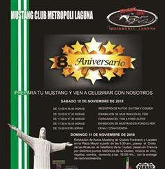 Más información de 8o Aniversario Mustang Club Metropoli Laguna