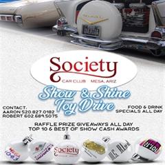 Más información de Society Car Club Mesa, Arizona Show & Shine Toy Drive 2019