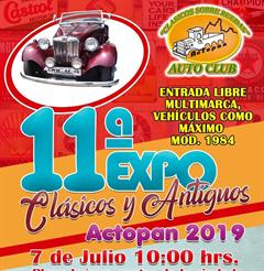 Más información de 11a Expo Clásicos y Antiguos Actopan 2019