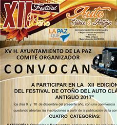 Más información de XII Festival Otoño Auto Clásico y Antiguo La Paz