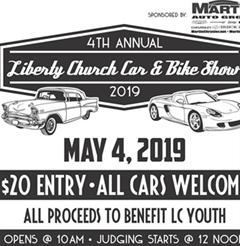 Más información de 4th Annual Car & Bike Show Liberty Church
