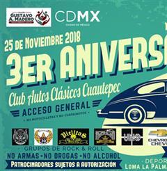 Más información de 3er Aniversario Club Autos Clásicos Cuautepec