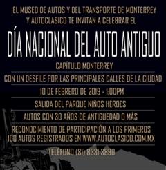 Más información de Día Nacional del Auto Antiguo Monterrey 2019