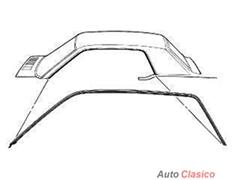 Par De Hules De Marco Techo Mustang 64 65 66 1965 1966 Ford