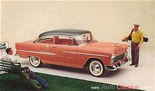 Chevrolet 1955 | Bel Air Sedan dos puertas, Shadow Gray – Coral
