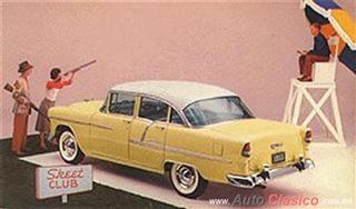 Chevrolet 1955 | Bel Air Sedan cuatro puertas, India Ivory – Harvest Gold