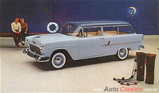 Chevrolet 1955 | 210 Vagoneta dos puertas, Glacier Blue - Skyline Blue